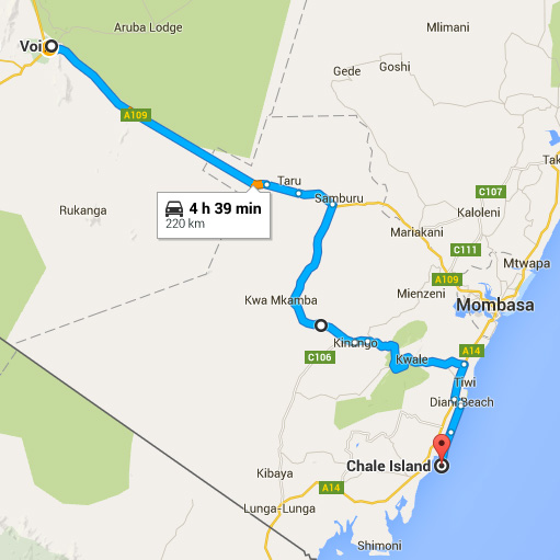 Diani Beach Kenia Karte.Map The Sands At Chale Island Hotel Diani Beach Kenya